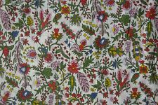 Floral Block Print Mas D/'Ouvan Princess Ivory Grey Red
