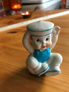 """3"""" Bisque Porcelain  Sailor Baby Boy Arms up Cake Topper or Display"""
