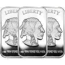 American Buffalo Bar by SilverTowne 1oz .999 Silver Bar (3pc)