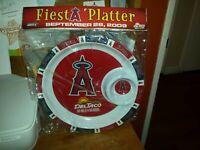 Los Angeles ANGELS OF ANAHEIM  BASEBALL DIP APPETIZER PLATTER Fiesta Plate SGA