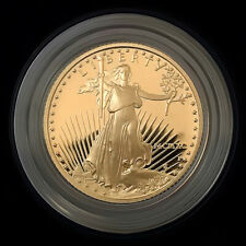 1990-P 1/4 oz $10 Proof Gold American Eagle with Box & COA