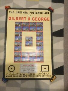 Gilbert And George Signed Poster, Post Card Art Exhibition 2011