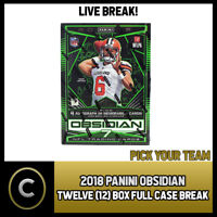 2018 PANINI OBSIDIAN FOOTBALL 12 BOX (FULL CASE) BREAK #F045 - PICK YOUR TEAM