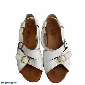 Berkemann white sandals womens sz 8.5 39 euro