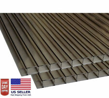 """(PACK OF 8 panels ) 24"""" x 72""""x10mm (3/8) POLYCARBONATE BRONZE Twinwall Sheets"""