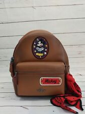 NWT COACH F59356 LIMITED EDITION MICKEY MOUSE X SMALL SADDLE BACKPACK