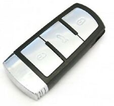 VW Passat Mk7 B6 (05-09) 3 Button Smart Key Chrome Remote Fob For Key less Entry