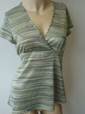 Wallis Polyester V Neck Striped Tops & Shirts for Women