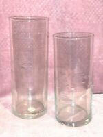 PRINCESS HOUSE 2 pc CRYSTAL CYLINDERS #435 HERITAGE HANDBLOWN USA Floaters