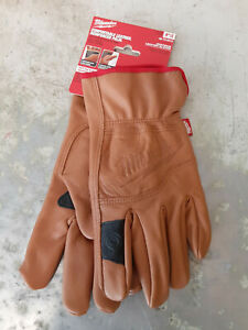 MILWAUKEE Goatskin Leather Gloves LARGE or X-LARGE Reinforced Palm
