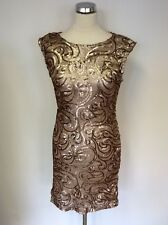 BRAND NEW JANE NORMAN GOLD SEQUIN SWIRL  DRESS SIZE 14 RRP £55
