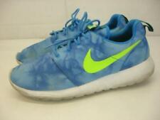 Nike Mens sz 9.5 Roshe Run Rosherun Print Photo Blue Mystic Green Obsidian Shoes