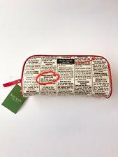 Kate Spade Small Henrietta Daycation Newsprint Cosmetic Bag NWT *Rare