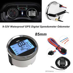 85mm Waterproof GPS Digital Speedometer Odometer Gauge for Car Truck Marine SUV