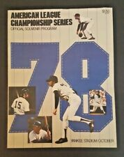 1978 ALCS NEW YORK YANKEES SOUVENIR PROGRAM UNMARKED GREAT COND!!!