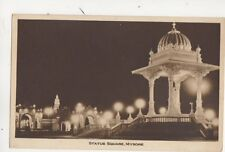 Statue Square Mysore India Vintage Postcard 313b