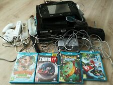NINTENDO Wii U 32GB BLACK HANDHELD CONSOLE, 6 GAMES, HDMI CABLE & CONTROLLERS