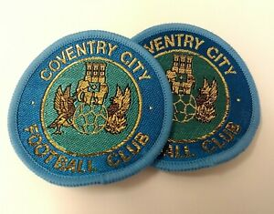 Obsolete Embroidered Coventry City FC Football Club Sewn On Patch X4 NEW ASPS09