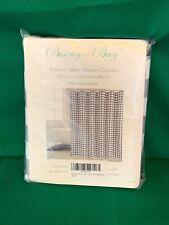 Black & Gray Plaid Check fabric shower curtain  NEW    T