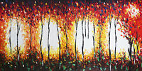 landscape Art Print  Framed Canvas painting bush fire dream