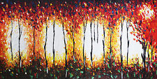 Aboriginal inspired Art Print  Framed Canvas painting bush fire dream  by jane