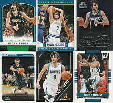 RESALE LOT (117 TOTAL CARDS) RICKY RUBIO (7 DIFFERENT) 2012-13 TO 2015-16