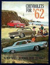 Prospekt brochure 1962  Chevrolet (USA)  Impala  Corvette  Nova