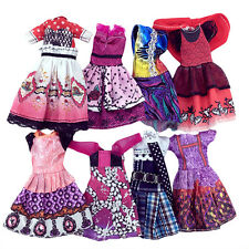 7Pcs Dolls Dress Casual Clothes Set For Monster High School Kid Selling Dolls