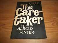 Booklet. The Caretaker. A Play in Three Acts. Harold Pinter. Encore. 1st. 1960