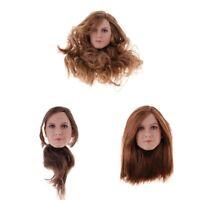 1:6 Scale Female Women Head Sculpt Model for 12'' Phicen Figure DIY Parts