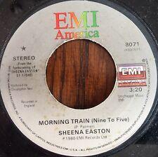 "Sheena Easton ""Morning Train (Nine to Five)"" 45RPM Vinyl 7"" Single 1980 Ex EMI"