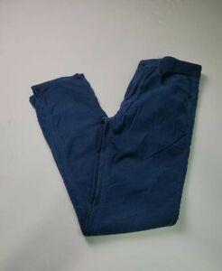 Quiksilver Men's Corduroy Pants Size 30X30 Straight Leg Skinny Fit Blue