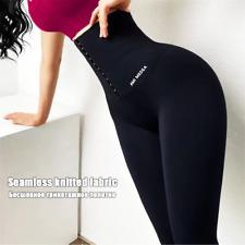 Mujeres cintura alta Legging Tummy Control de corsé Fitness Sport lyggin Slim Reino Unido Hot