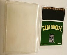 Cratermaze  Hu Card Game w/ Sleeve for Turbo Grafx 16 Console Never Played