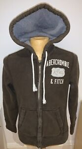 Classic Abercrombie and Fitch Hoodie Distressed Small Khaki Muscle