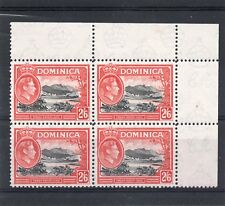 Dominica GV1 1938-47 2s.6d. block x 4 sg 107 NHM