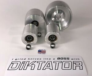"Wheel set for knife making 2"" x 72"" Belt Grinder (MADE IN USA) Fast Shipping"