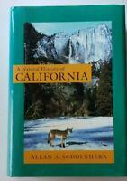 A NATURAL HISTORY OF CALIFORNIA HC DJ 1st Printing VG