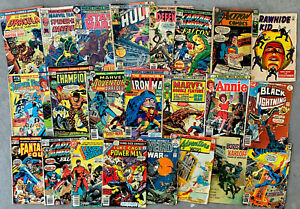 set of 25 SILVER & BRONZE AGE DC & MARVEL Comics in low grade Star Wars, Dracula
