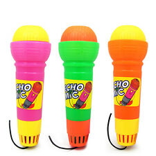 Kids Plastic Echo Sound Microphone Mic Voice Funny Toy Gift No Need Of Battery