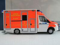 """Rietze 76223 GSF RTW MB Sprinter (2019) """"Feuerwehr Monheim"""" 1:87/H0 NEU/OVP"""