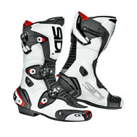 Sidi Mag 1 Air Motorbike Motorcycle CE Approved Race Track Boots White / Black