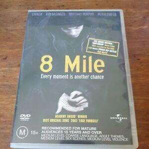 8 Mile DVD R4 Like New! FREE POST