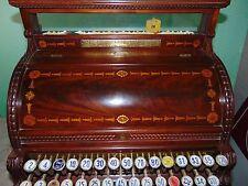 1888 Antique Wooden Mahogany Model 3 National Cash Register Honeysuckle Pattern
