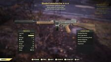 Fallout 76 ps4/item/bloodied/explosive/faster move speed 45mm submachine gun