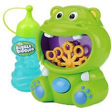 Kids Childrens Bubble Machine Gun Blower Solution Birthday Party Bubbles Toy