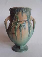 "Vintage Original Roseville Pottery ""Moss"" 776-7 Pattern 1936 Vase. Wonderful!"