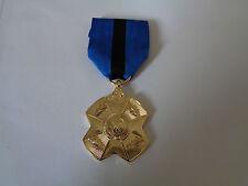 A3-A080 Belgien Medal Sortieren Leopold II - Gold Verdienstorden