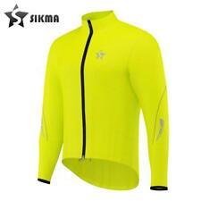 Men's Rain Coat Cycling Waterproof Jacket Rain Suit Top High Viz Yellow-Sikma
