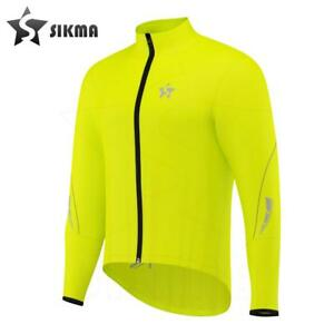 Men's Rain Coat Cycling Waterproof Jacket Rain Suit Top High Viz Yellow S-XXL